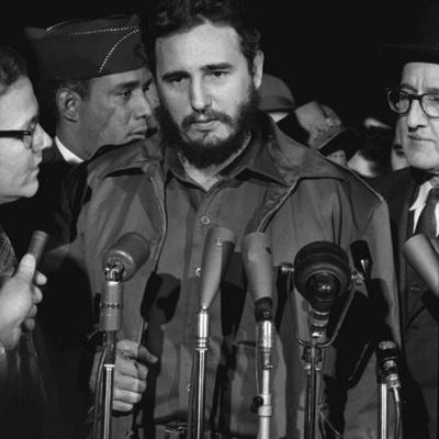 Fidel Castro arrives at Washington airport, 1959