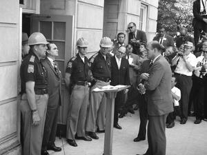 Governor George Wallace Blocks Entrance at the University of Alabama by Warren K^ Leffler