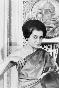 Prime Minister Indira Gandhi of India at the National Press Club Washington, 1966 by Warren K. Leffler