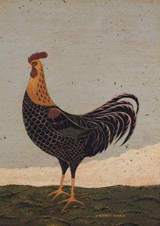 Rooster Facing West