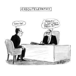 Executelepathy - New Yorker Cartoon by Warren Miller