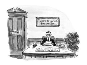 Mother Krupkie's Pies and Cakes - New Yorker Cartoon by Warren Miller
