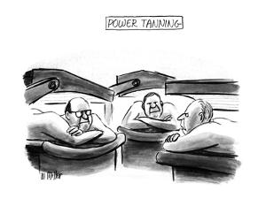 Power Tanning - New Yorker Cartoon by Warren Miller