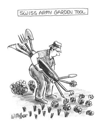 Swiss Army Garden Tool - New Yorker Cartoon