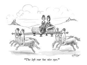 """""""The left rear has nice eyes."""" - New Yorker Cartoon by Warren Miller"""