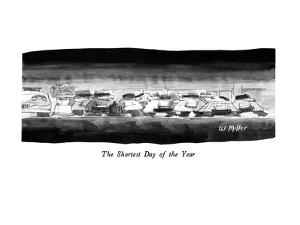 The Shortest Day of the Year - New Yorker Cartoon by Warren Miller