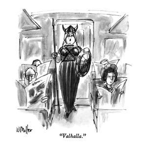 """""""Valhalla."""" - New Yorker Cartoon by Warren Miller"""