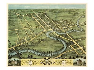 Warren, Ohio - Panoramic Map-Lantern Press-Art Print