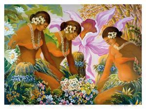 Hawaiian Hula by Warren Rapozo