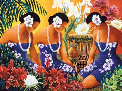 Silent Preparation, Hawaiian Hula Dancers