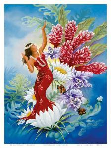 Spirit of Aloha, Hawaiian Hula Dancer by Warren Rapozo