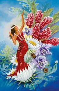 Spirit of Aloha, Hawaiian Hula Dancer by Warren Rapozo