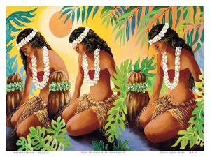 The Sun at the Source of Life, Hawaiian Hula Girls by Warren Rapozo