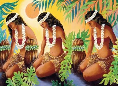The Sun at the Source of Life, Hawaiian Hula Girls by Warren Rapozo