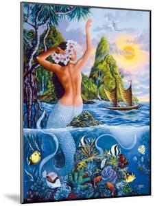Wahine from the Sea, Hawaiian Mermaid by Warren Rapozo