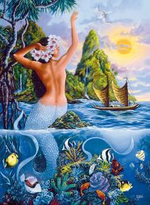 Wahine from the Sea, Hawaiian Mermaid by Warren Rapozo