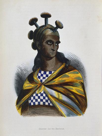 Warrior from the Sandwich Islands, Polynesia, 1843-1844--Giclee Print