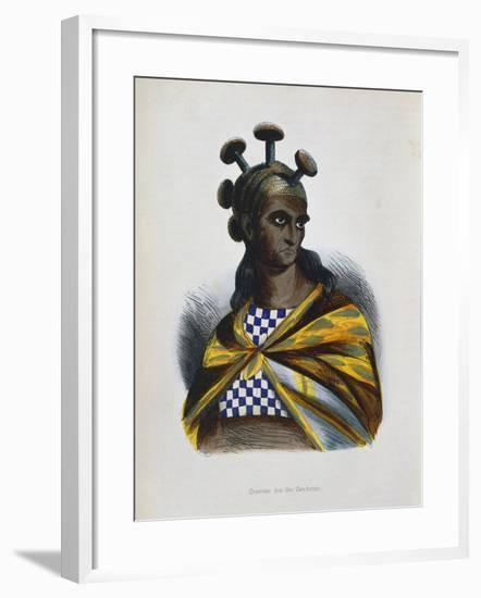 Warrior from the Sandwich Islands, Polynesia, 1843-1844--Framed Giclee Print