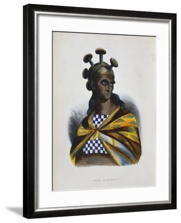 Warrior from the Sandwich Islands, Polynesia, 1843-1844--Framed Giclee Print