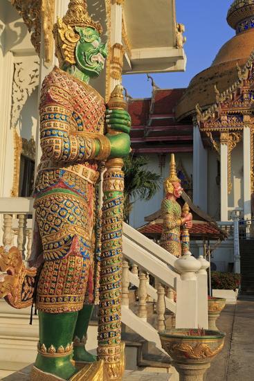 Warrior in Wat Chamongkron Royal Monastery, Pattaya City, Thailand, Southeast Asia, Asia-Richard Cummins-Photographic Print