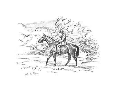 Warrior On the Way Up To the Downs-Sir Alfred Munnings-Premium Giclee Print