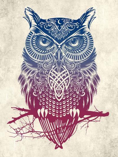 Warrior Owl-Rachel Caldwell-Art Print