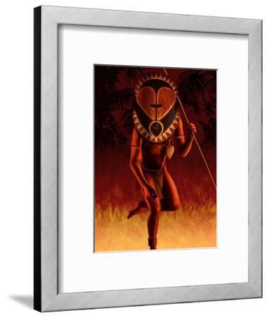 Warrior Wearing Tribal Mask