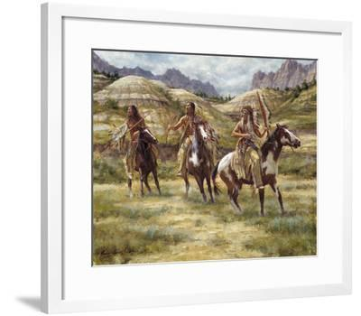 Warriors of the Badlands-James Ayers-Framed Giclee Print