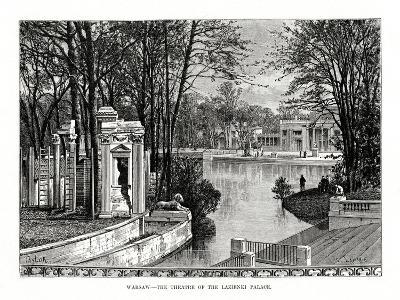 Warsaw - the Theatre of the Lazienki Palace, Poland, 1879- Laplante-Giclee Print