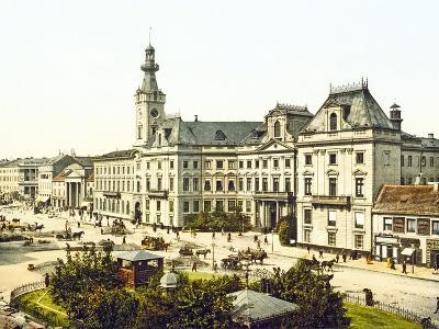 Warsaw Town Hall, 1890-1900--Photographic Print