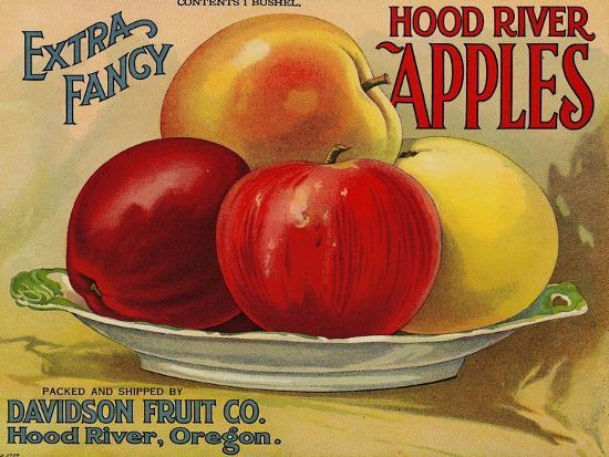 Warshaw Collection of Business Americana Food; Fruit Crate Labels, Davidson Fruit Co.--Art Print