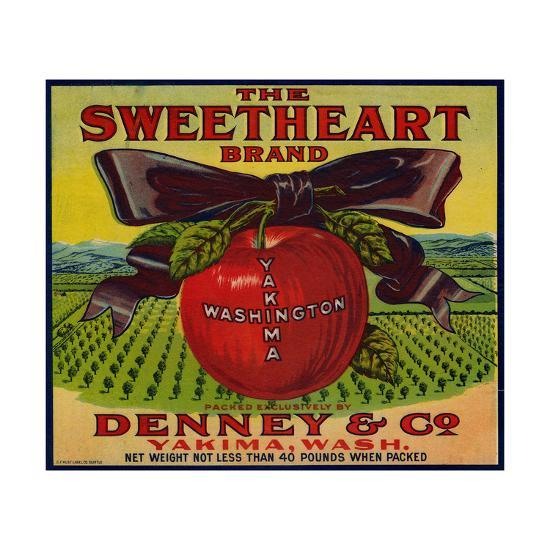 Warshaw Collection of Business Americana Food; Fruit Crate Labels, Denney & Co.--Art Print
