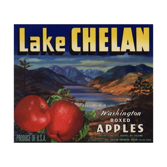 Warshaw Collection of Business Americana Food; Fruit Crate Labels, Lake Chelan Growers Union--Art Print