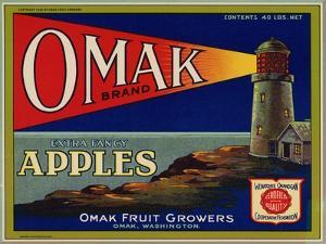 Warshaw Collection of Business Americana Food; Fruit Crate Labels, Omak Fruit Growers