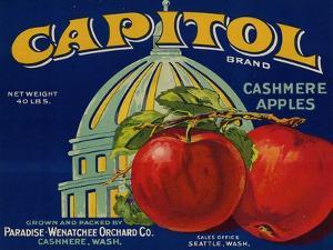Warshaw Collection of Business Americana Food; Fruit Crate Labels, Paradise-Wenatchee Orchard Co.