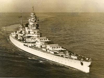 Warship 'Dunkerque'--Photographic Print