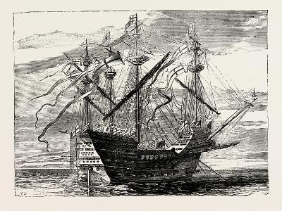 Warship of the Time of Henry VIII--Giclee Print