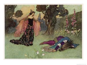 A Midsummer Night's Dream, Titania and Bottom by Warwick Goble