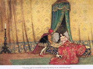A Young Girl of Wonderous Beauty by Warwick Goble