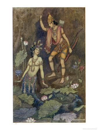 Arjuna and Nymph