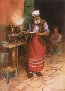 Coffee Sold in Istanbul by Warwick Goble
