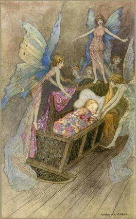 Fairies Around a Baby's Cot