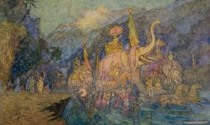 Heroes Rise from Ganges by Warwick Goble