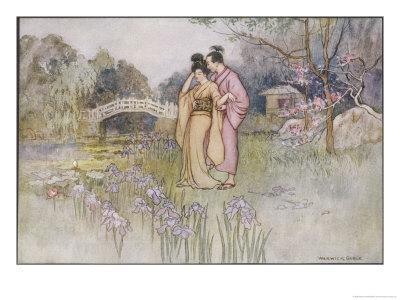 Japanese Couple in a Garden