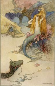Mermaid Combing Her Hair by Warwick Goble