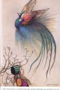 Out of the Fire Flew a Beautiful Bird by Warwick Goble