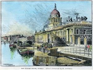 The Custom House, Dublin, Ireland, C1890 by Warwick Goble
