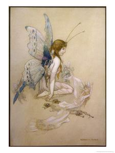 The Fairies Came Flying in at the Window and Brought Her Such a Pretty Pair of Wings by Warwick Goble