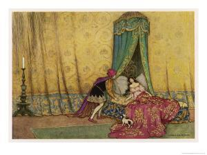 The Princess is Woken by the Prince's Kiss by Warwick Goble