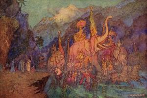 The Return of the Heroes Slain in the Battle of Eighteen Days by Warwick Goble
